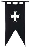 Templar Knight Order of the Hospitallers of St.John Banner by Marto of Toledo Spain (Double faced)