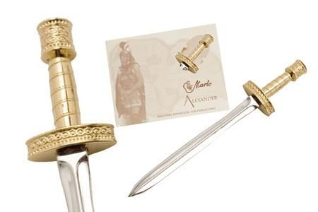 Miniature Alexander the Great Sword Gold by Marto of Toledo Spain