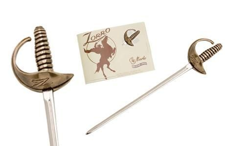 Miniature Zorro William Sword Bronze by Marto of Toledo Spain
