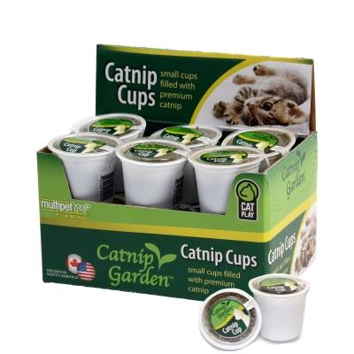 multipet CATNIP GARDEN® 12 PACK OF CATNIP CUPS