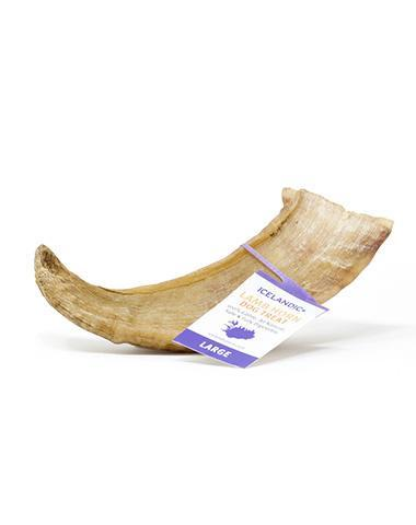 Icelandic+ Large Lamb Horn Dog Treat