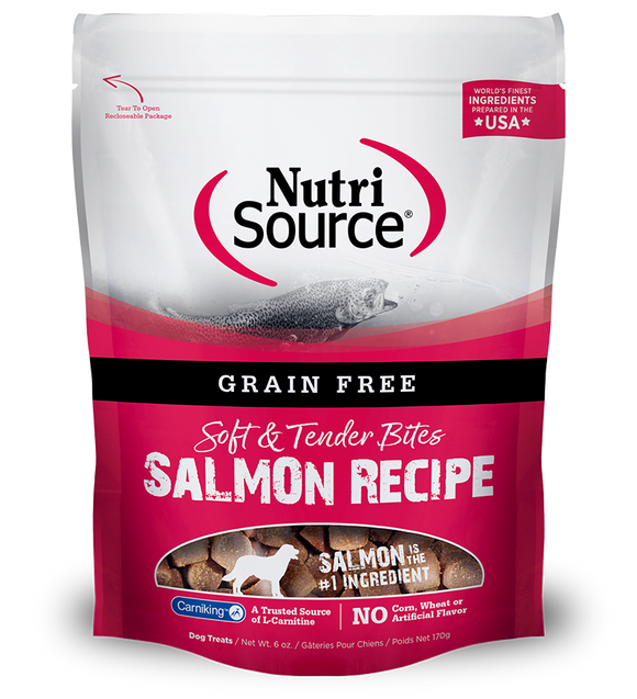 NutriSource Salmon Bites Grain Free Dog Treats