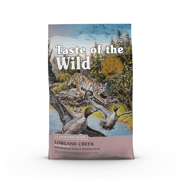 Taste Of The Wild Lowland Creek Feline Recipe with Roasted Quail & Roasted Duck