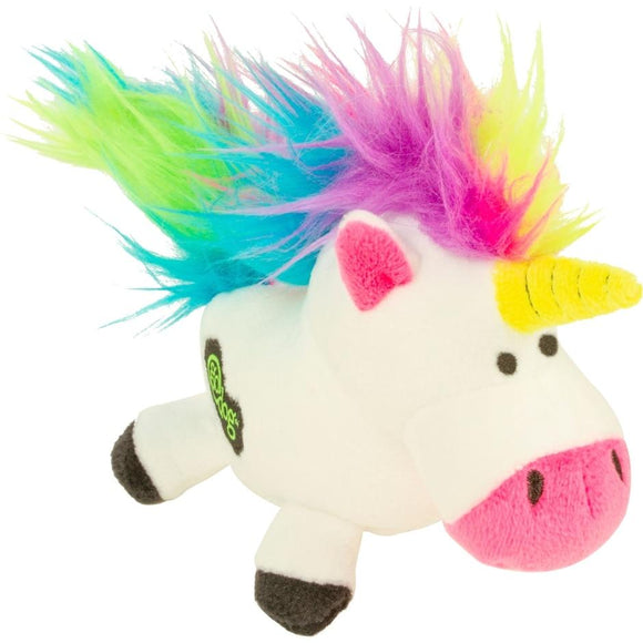 GODOG UNICORNS JUST FOR ME DURABLE PLUSH DOG TOY