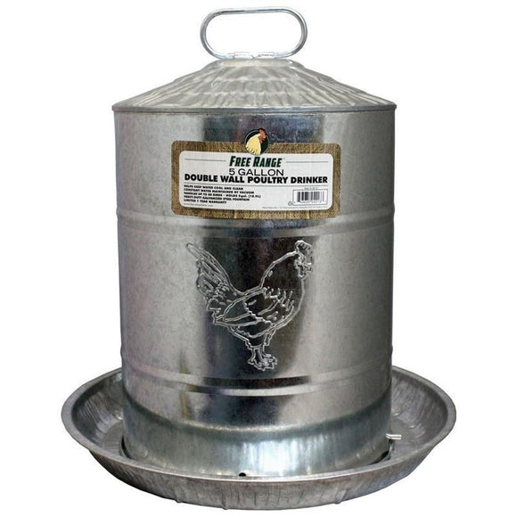 FREE RANGE GALVANIZED DOUBLE WALL DRINKER