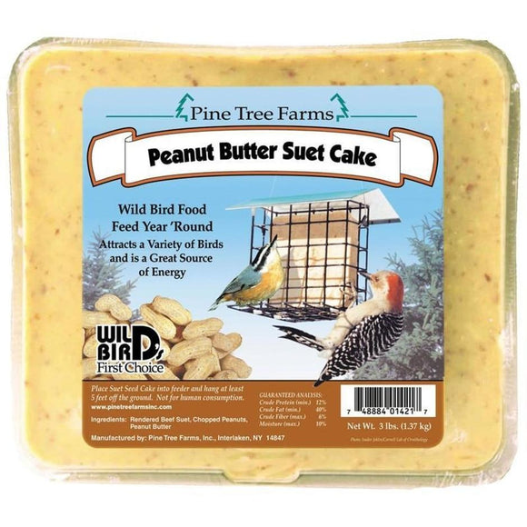 PINE TREE FARMS PEANUT BUTTER SUET CAKE 3LB