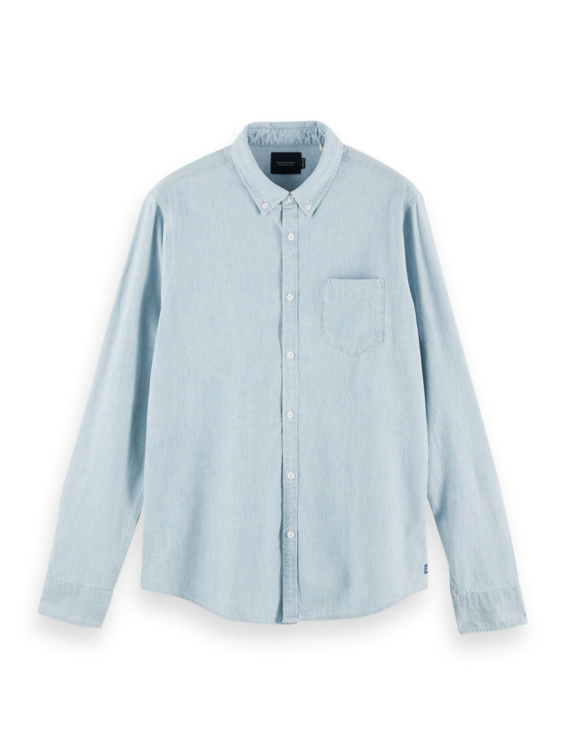 REGULAR FIT - chest pocket chambray shirt