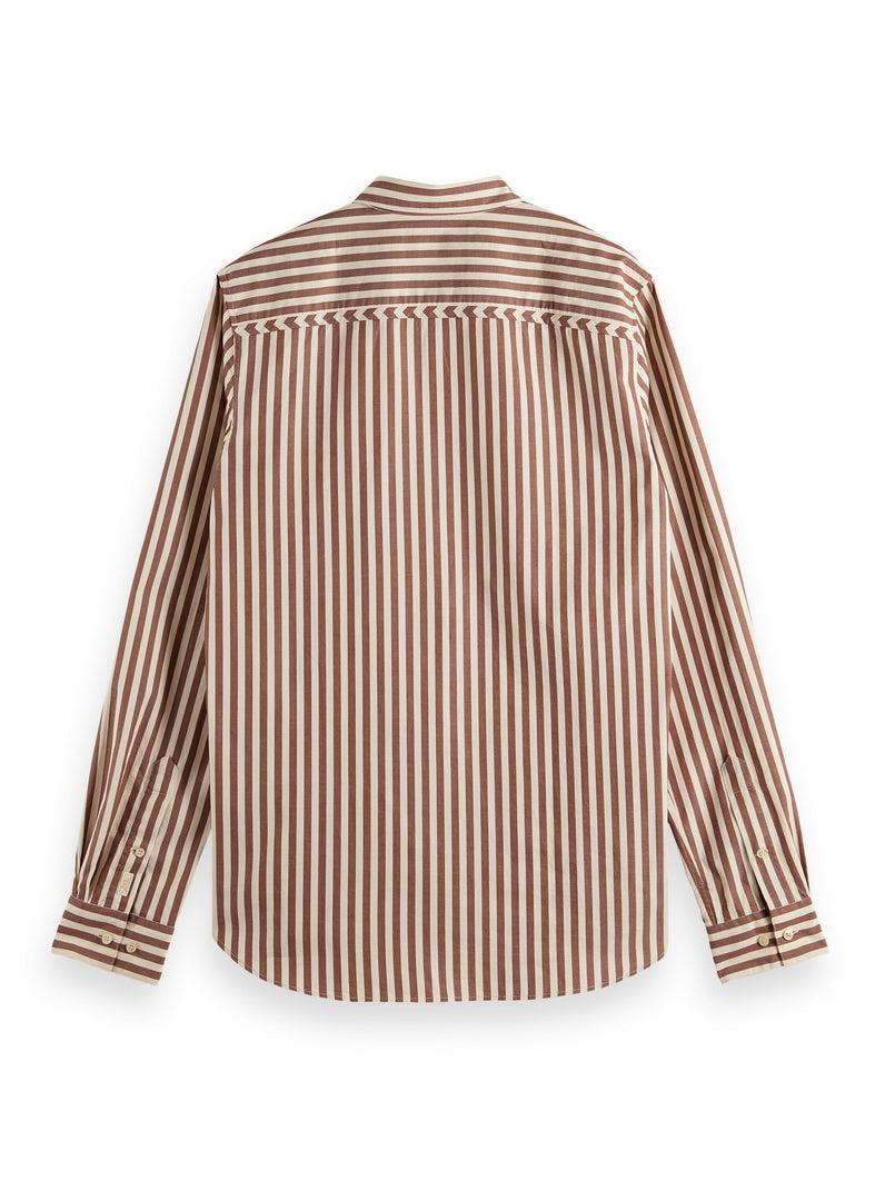 REGULAR FIT- Cotton twill striped shirt