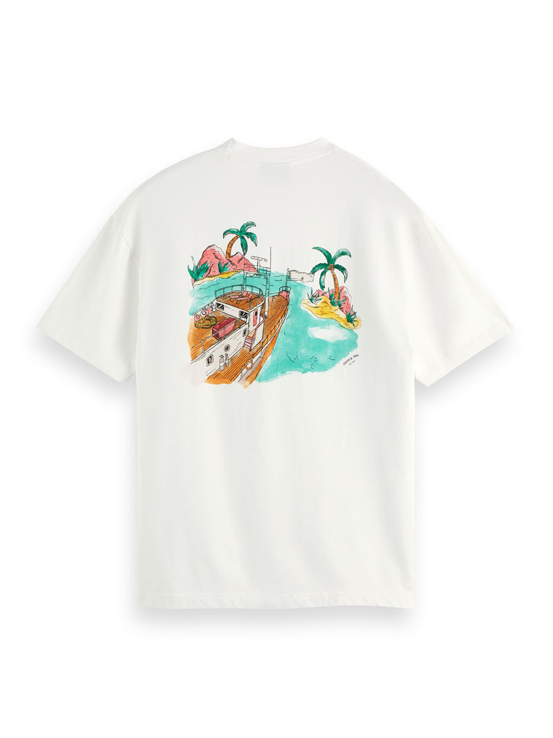 Cotton-jersey watercolour artwork t-shirt