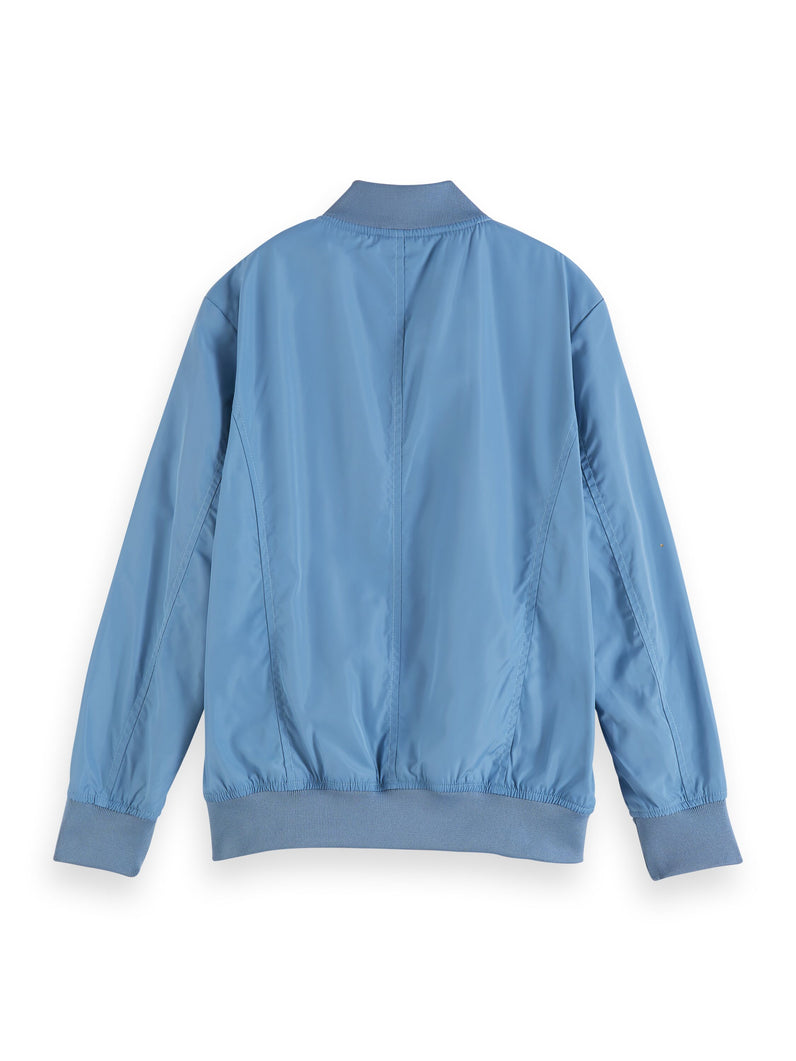 Lightweight bomber jacket in recycled polyester