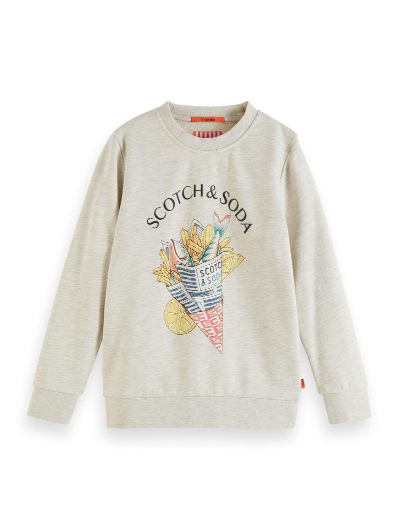 Crew neck sweat with artwork