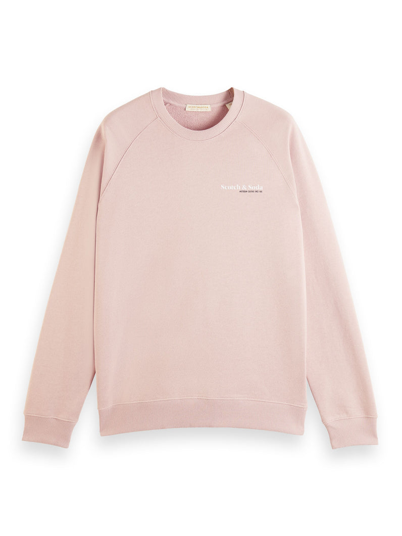 Classic crewneck in organic cotton Sweater rosa