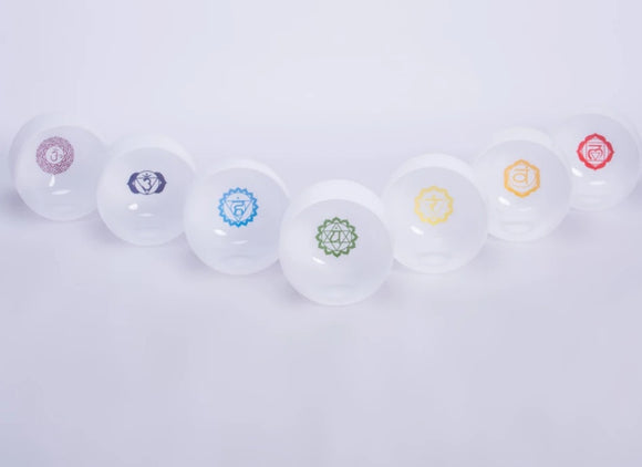 Chakra set singing bowl meditation