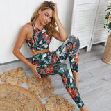 2 piece yoga set tropical