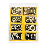 8pcs/set Brain Teaser Cultivate Thinking Metal
