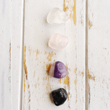 Let Go & Love * Rose Quartz, Black Onyx, Amethyst & Crystal Quartz