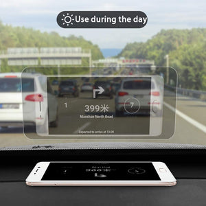 "【🔥🔥🔥Get Yours Today 50% OFF】   Universal Head Up Display HUD Reflective Windshield Film 7.5"" for All Car Makes and Models."