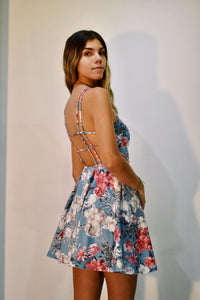 High Neck with Open Back Short Dress
