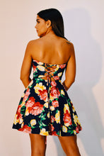 Load image into Gallery viewer, Strapless back cross short dress