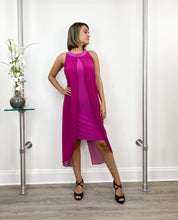 Load image into Gallery viewer, Halter Tank Dress with Chiffon Overlay