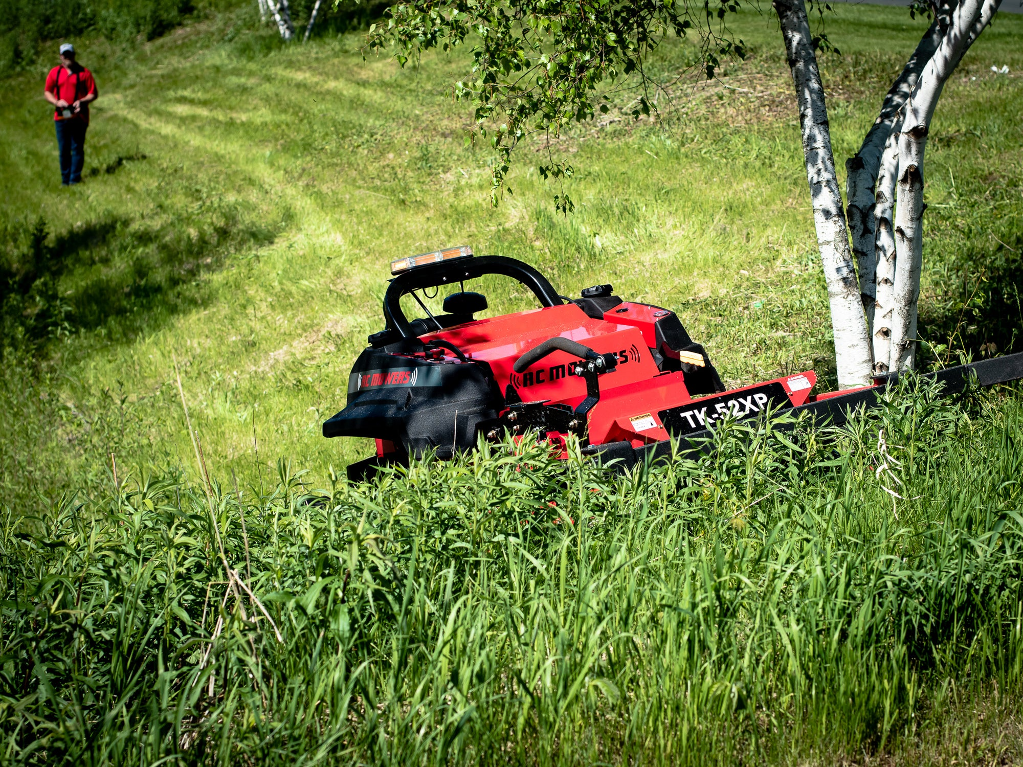 slope mowing, robotic commercial mowers