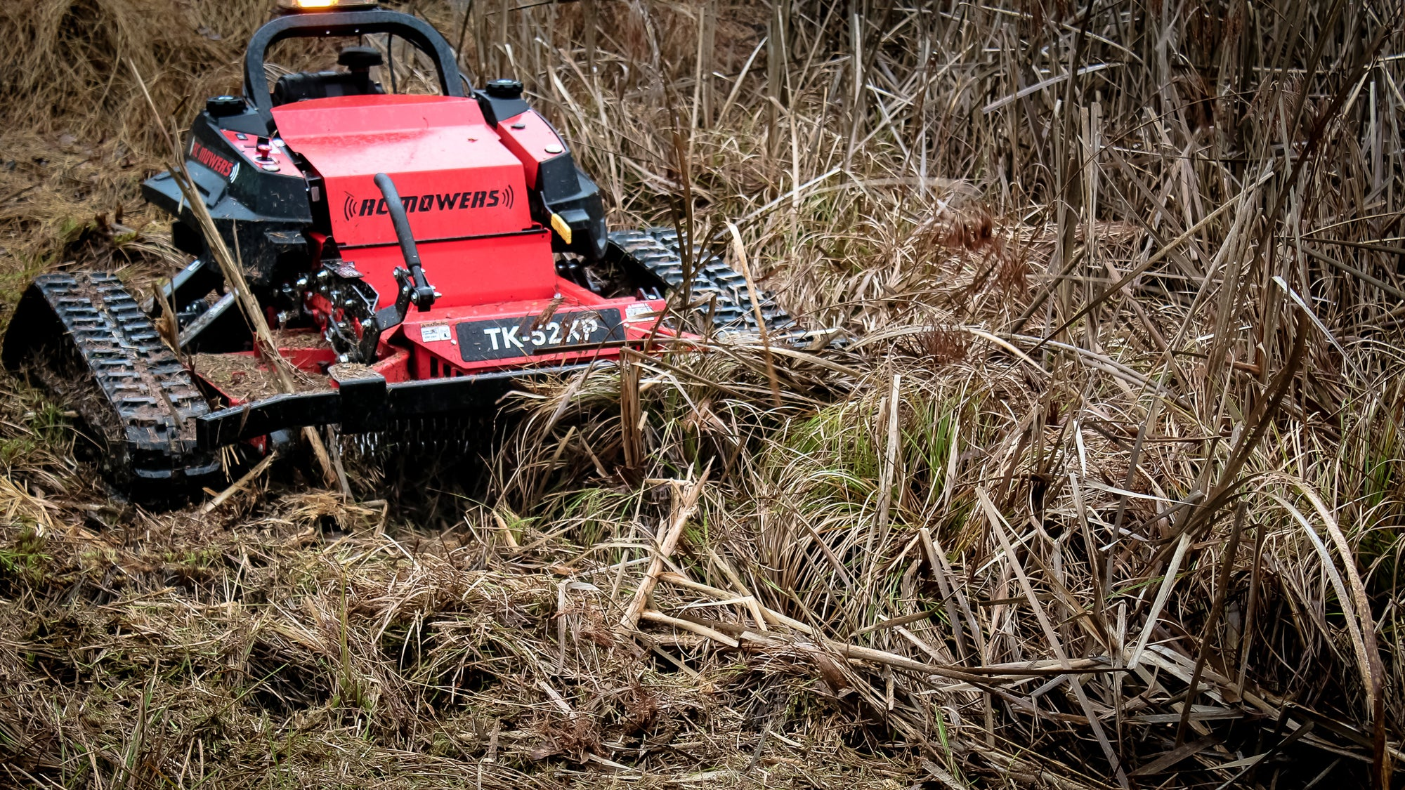 remote control hillside mower
