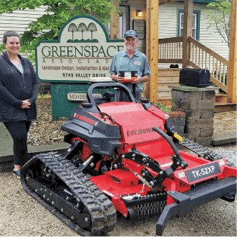 Greenspace Associates with RC Mowers remote-operated slope mower for steep hill mowing