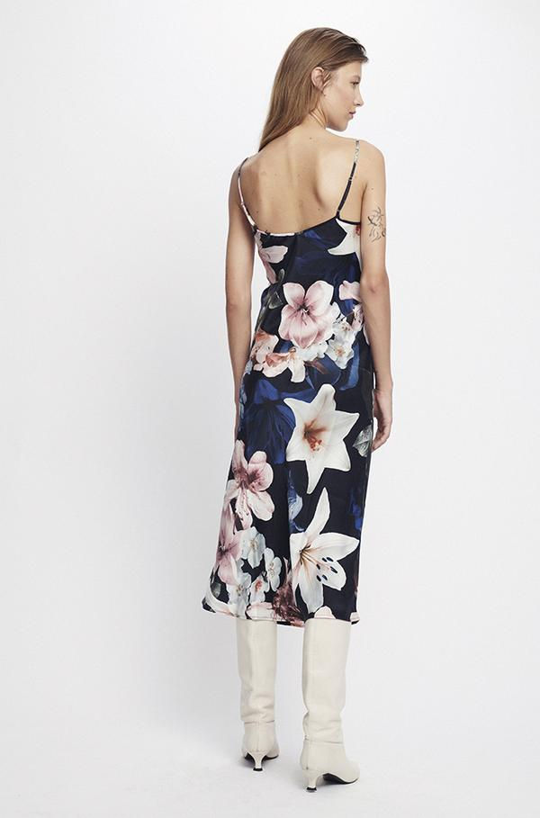 90s Silk Slip Dress Lillies
