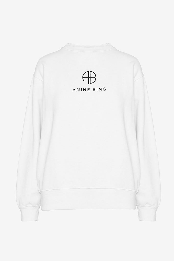 Ramona Sweatshirt Monogram White