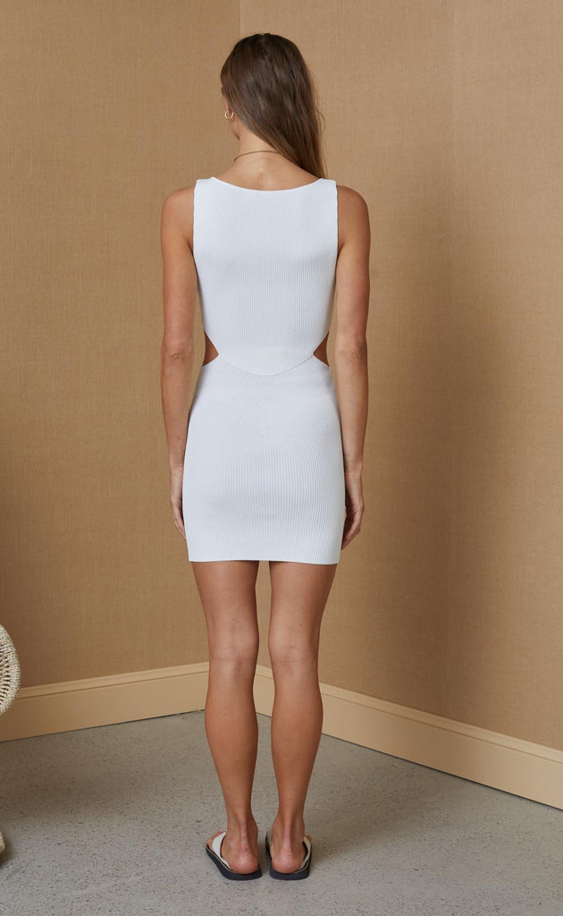 Versailles Knit Mini Dress Ivory