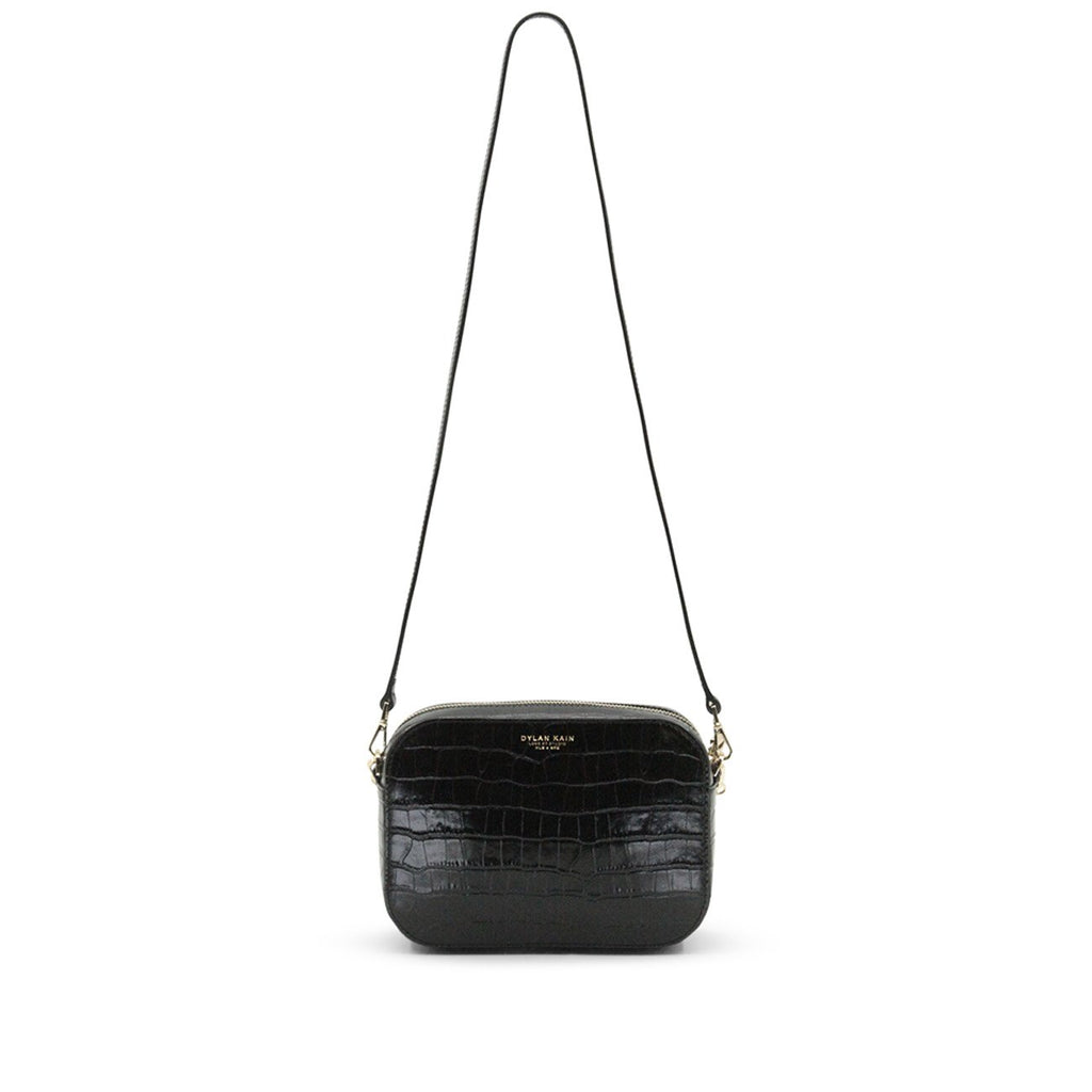 The Mini Rodriguez Croc Bag Light Gold
