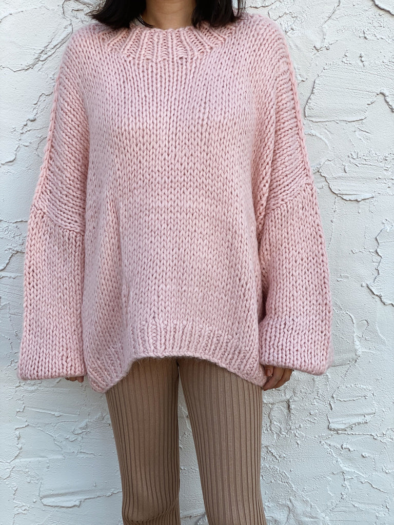 Desiree Pink Oversize Marino Wool Jumper