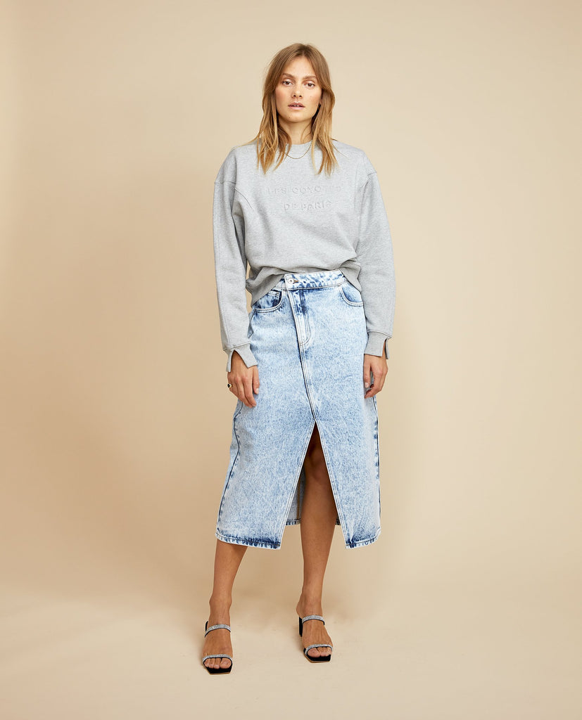 Yilan Skirt Acid Denim