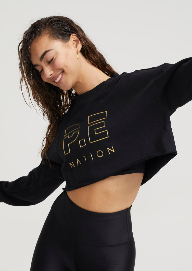 Heads Up Sweat Metallic Cropped