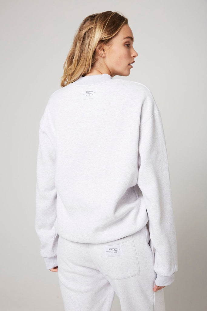 The Crew Neck Light Grey Marle