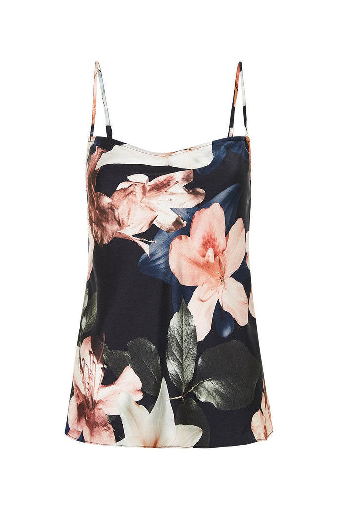 Straight Neck Cami Lillies