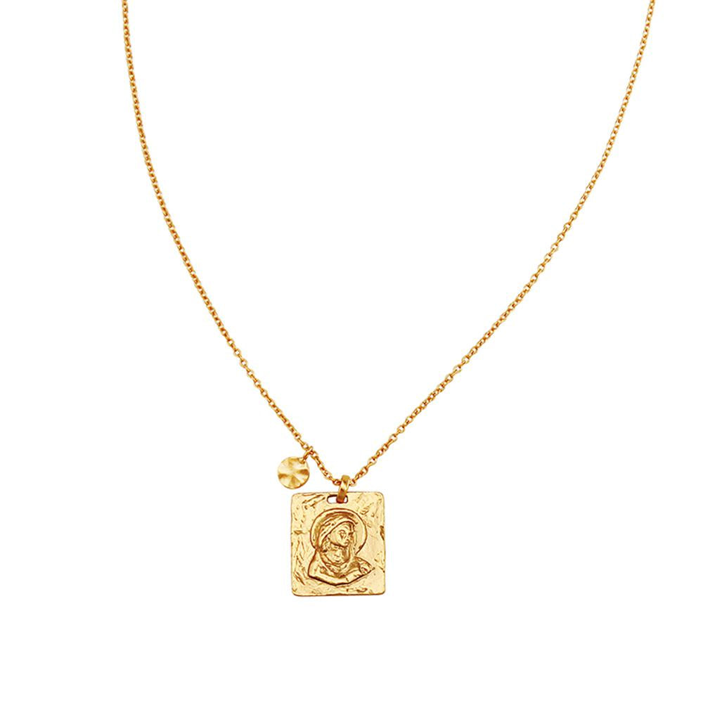 Madonna Pendant Necklace Gold