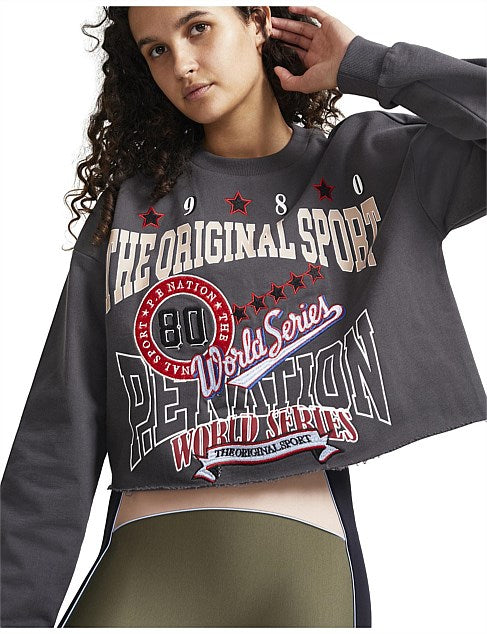 Strike Run Cropped Sweat