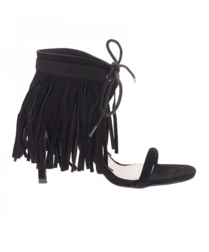 Mavin Black Fringed Heel