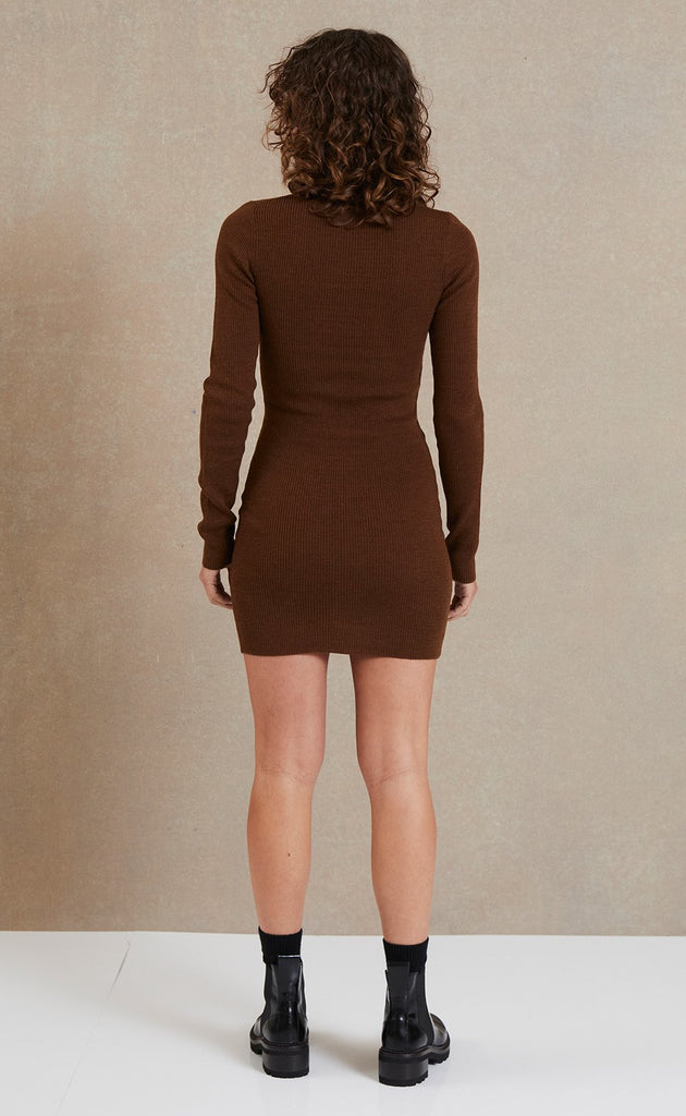 Freya L/S Knit Polo Dress