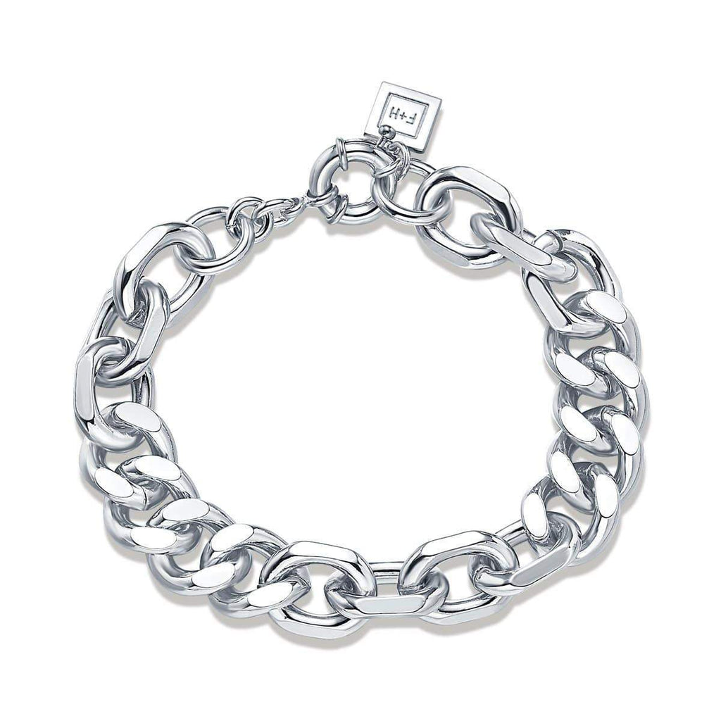 Mixed Up Statement Bracelet Sterling Silver