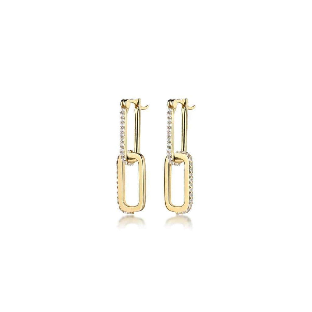 Double Dylan Gemstone Link Earrings
