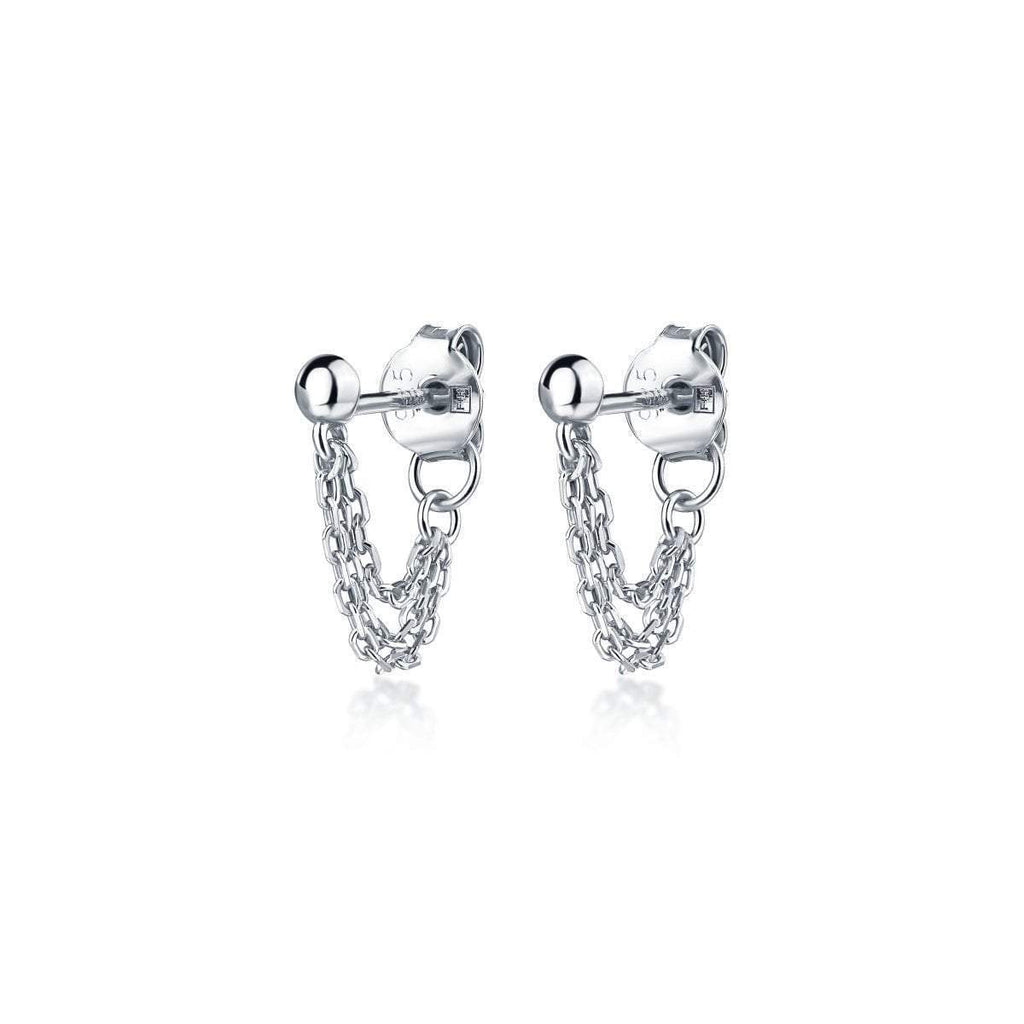 Jones Triple Chain Stud Sterling Silver