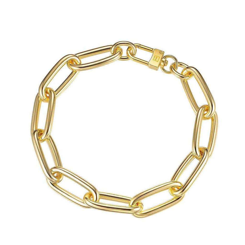 Heavy Metal XL Necklace - Brass + 18k Gold