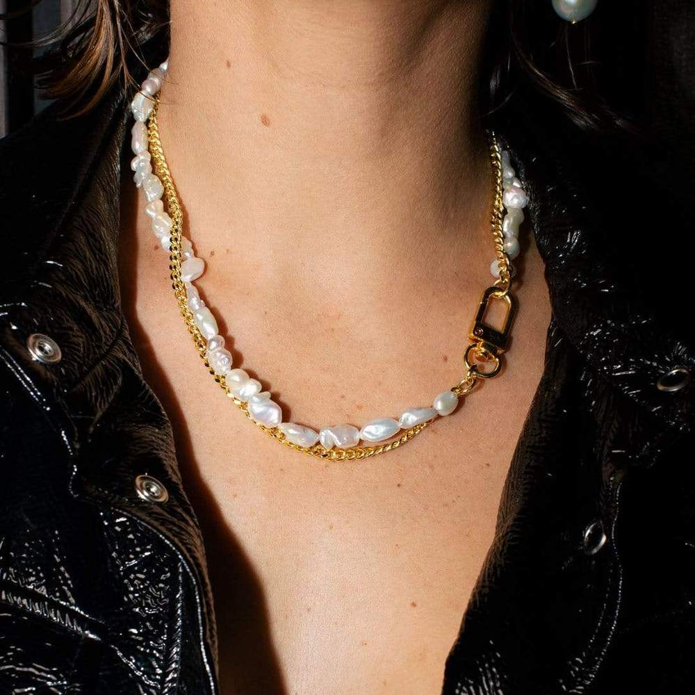 Janet Pearl and Statement Necklace
