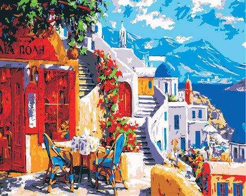 Artherapy Paint By Numbers Santorini