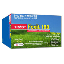 Load image into Gallery viewer, Nasonex Generic Alternative Bundle (3) = 3 x Sensease Allergy Relief 140 Sprays, Mometasone Furoate 50 Microgram/Spray + 50x Trust Fexit 180mg Tablets