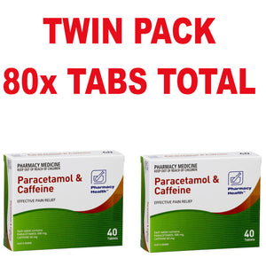 80x Paracetamol Caffeine - Pharmacy Health