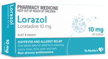 Load image into Gallery viewer, 30x Lorazol - Loratadine 10mg Dr Reddys (Generic Claratyne Alternate)
