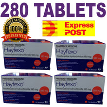 Load image into Gallery viewer, 280 x HayFexo Fexofenadine Hydrochloride 180mg Tablets (Generic Telfast Alternative) +100 Bonus Paracetamol Tablets